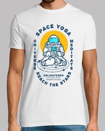 t-shirt astronaute yoga univers rétro années 80 années 90 vintage