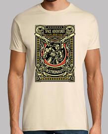 t-shirt astronauti vintage spazio
