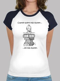 t-shirt austen baseball - baseball t-shirt janeite