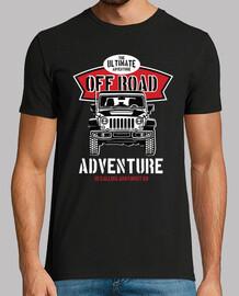 t-shirt aventures tout-terrain rétro 4x4