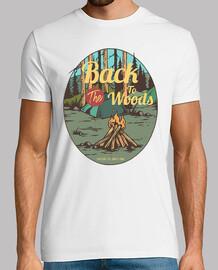 t-shirt avventuroso campeggio vintage montagne