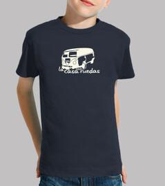t-shirt bambini a casa con ruote 2