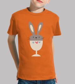 t-shirt bambini bunny tazza (modello 2)