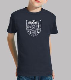 t-shirt bambino-basco bianco