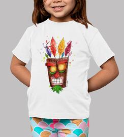 t-shirt bambino aku aku maschera