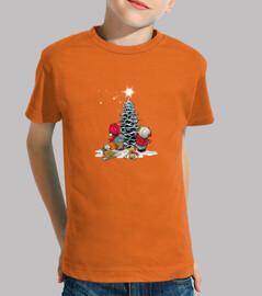 t-shirt bambino albero di natale