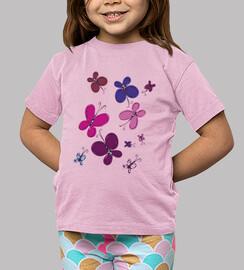 t-shirt bambino farfalle