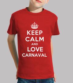 t-shirt bambino keep calm and amore carnevale