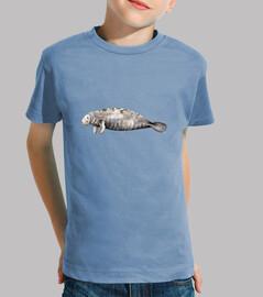 t-shirt bambino lamantino (trichechus manatus)