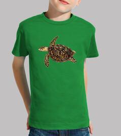 t-shirt bambino tartaruga embricata (eretmochelys imbricata)