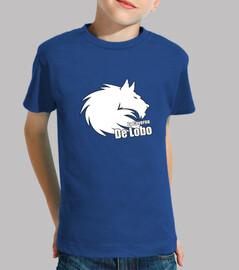 t-shirt bambino white wolf