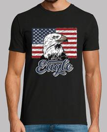 t-shirt bandiera americana eagle vintage patriottica
