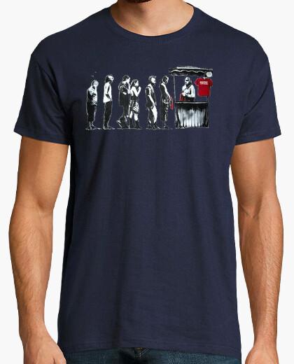 T-shirt banksy rivoluzione spanish