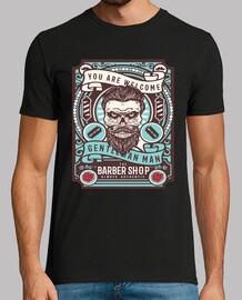 t-shirt barbiere del teschio