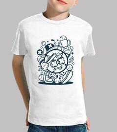 t-shirt baseball divertente cartoni animati baseball