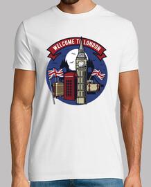 t-shirt benvenuto a londra uk