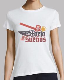 t-shirt bianca / colorata per ragazza: la forgiatura di los sogni