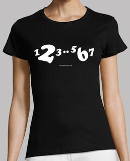 t-shirt bianca corta 1,2,3..5,6,7