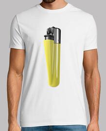t-shirt bianca gialla più leggero