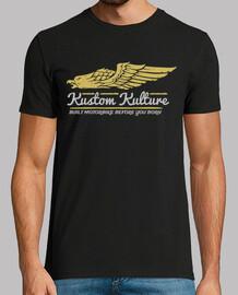 t-shirt biker aquila custom culture motor bikers motorcycle vintage