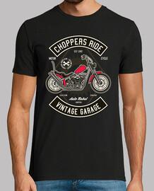 t-shirt biker chopper moto vintage anni '90 garage engine 1992
