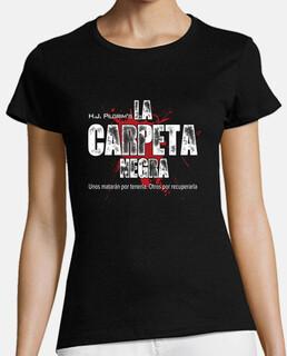 T-shirt black folder, girl