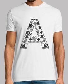 t-shirt blanc avec la lettre a