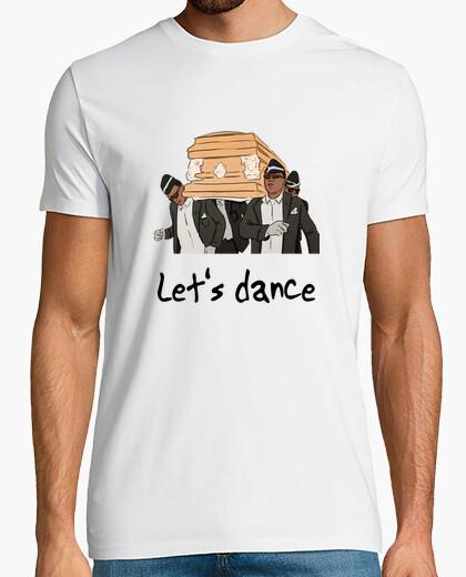 Tee-shirt t-shirt blanc de meme de danse de cercueil, manche courte
