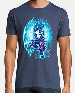t-shirt bleu de super saiyajin