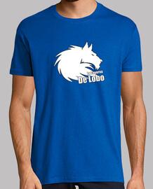 t-shirt blu logo bianco