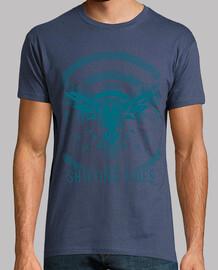 t-shirt blu marea cellulare