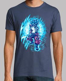 t-shirt blu super saiyajin