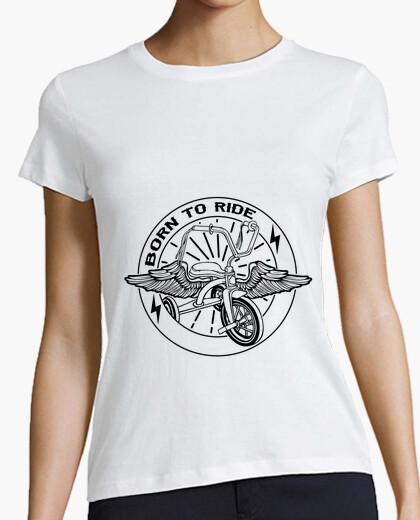 T-shirt born per ride nero