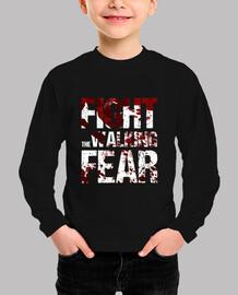 t-shirt boy fight the walking fear