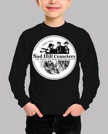 t-shirt boy short sleeve sad hill logo