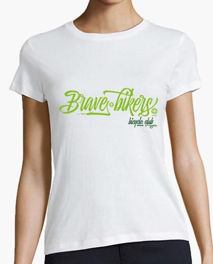T-shirt brave ciclisti donna sceneggiatura