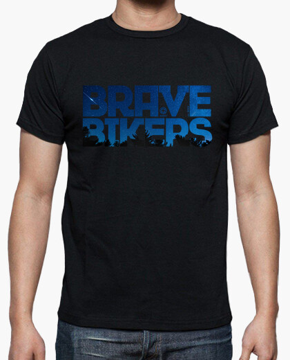 T-shirt brave ciclisti notte l'uomo