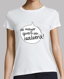 t-shirt breve spuntino mayor voglio essere salsera