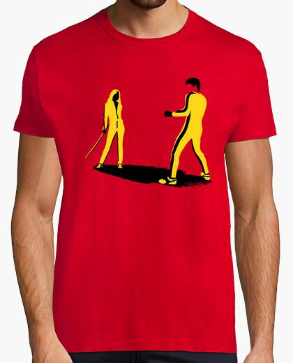 T-shirt bruce lee vs. mamba nero