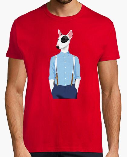 T-shirt bull terrier rosso skinhead