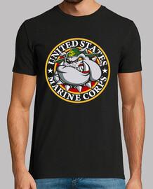 t-shirt bulldog usmc mod.2
