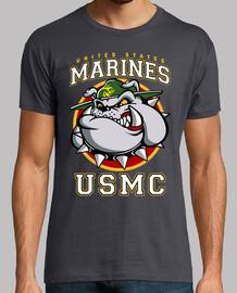 t-shirt bulldog usmc mod.3