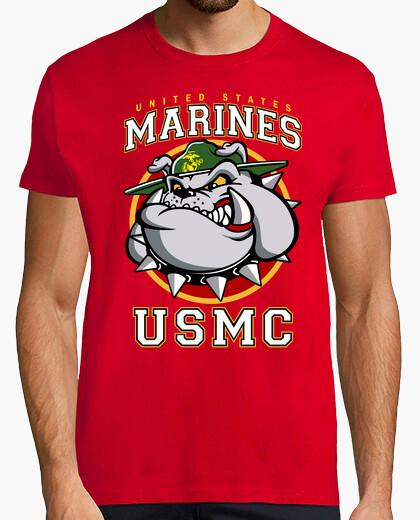 Tee-shirt t-shirt bulldog usmc mod.3