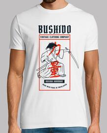 t-shirt bushido warrior samurais vintage