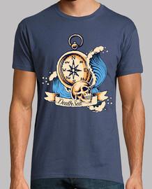 t-shirt bussola teschio vintage marinaio tattoo vintage skulls barca
