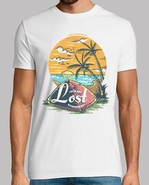 t-shirt campeggio spiagge escursione vintage