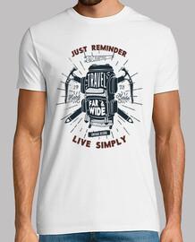 t-shirt camping retro montagnes vintage