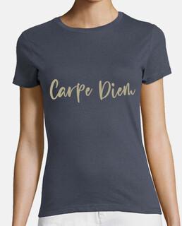 t-shirt carpe diem doré