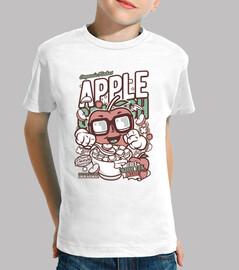 t-shirt cartoni animati apple scricchiolio giovanile