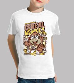 t-shirt cartoni animati divertente monkey cereali